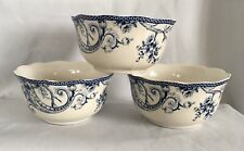 222 Fifth ADELAIDE-BLUE & WHITE Soup Cereal Bowl Set Of 3