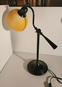 OttLite Lexington Desk/Bedside Lamp in Mocha Pearl Antique Bronze Adjustable