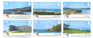 Alderney-25th Anniv of first stamps mnh set of 6