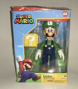 Luigi With Question Block World of Nintendo Jakks Pacific New 2020 Open Box