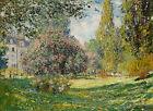 """Claude Monet : """"Landscape: The Parc Monceau"""" (1876) — Giclee Fine Art Print"""