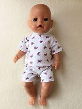 """Puppenkleidung, Schlafanzug z.B. für Jako O Krümel, Baby Born 43 cm """"NEU"""""""