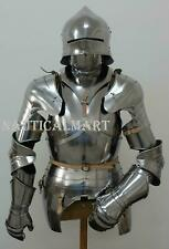Knight Suit of Armour Wearable Reenactment Breastplate with Helmet w/out stand