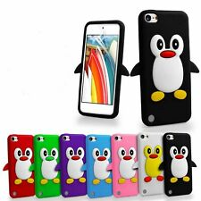 3D Penguin Soft Silicone Gel Case Cover For Apple iPod Touch 7th Gen 6th Gen