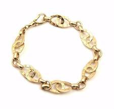 Doppel Hufeisen Reitsport Armband 9ct Gold VOLL UK geprägt