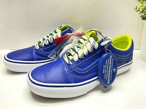 NEW Vans Old Skool Quartersnacks Limited Mens Leather Sneakers Shoes Blue Size 9