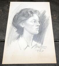 Sculptor France Gorse 1964 Slovenian Original Pencil Drawing/Sketch Slovenia