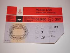 Soviet USSR Moscow Olympic Games Ticket 1980 Closing Ceremonie Place #93