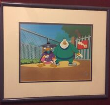 Original Production Cel from Darkwing Duck with Mr. Muddleford, 1991 w/COA