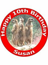 7.5 MEERKAT CAKE TOPPERS PERSONALISED AND DECORATED ON EDIBLE RICE PAPER