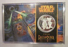 DISNEY STAR WARS WEEKENDS 2014 - EXCLUSIVE PASSHOLDER COIN - X-WING PILOT MICKEY