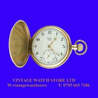 Mint WW1 10k Gold Limit Swiss High Grade Hunter Pocket Watch 1918