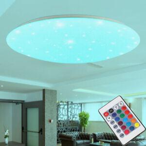 48W LED Deckenleuchte RGB Sternenhimmel Deckenlampe Dimmbar mit Fernbedienung