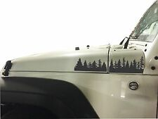 Jeep Wrangler Pine Tree forest hood  Vinyl Stickers Full SeT Decal JK,pick Color