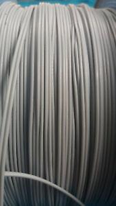 Doppellitze/Zwillingslitze hellgrau 10m 0,14mm²