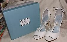 Lela Rose Unforgettable Moments 7 DIANA WHITE T-Strap Heels Bridal/Formal Shoes