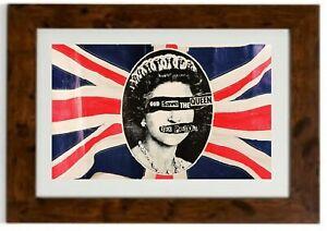 Sex Pistols God Save The Queen Framed Print