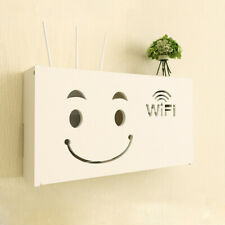 Wifi Router Storage Box Cable Wall Mounted Wire Rack Hanging Bracket Organizer