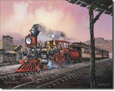 Ted Blaylock: #82 Rollin Thru (Train) Metal/Tin Sign (SKU 1031)