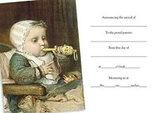 Victorian Trading Co Baby with Whistle Birth Announcement Cards (Pack of 8)