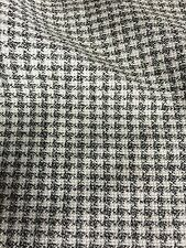 """Vintage Fabric Black White Houndstooth Plaid 58"""" Wide Sold By The Yard"""