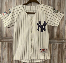 DEREK JETER NY YANKEES AUTHENTIC 2009 WS MAJESTIC JERSEY YOUTH Medium Baseball