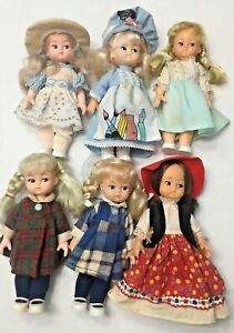 "Lot of 6 Tiara Dolls Billie by Playmates 6.5"" Hong Kong"