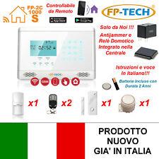 ANTIFURTO ALLARME CASA KIT COMBINATORE GSM WIRELESS SENZA FILI DA CELLULARE APP