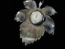 "VINTAGE LEAF DESIGN PENDANT LADIES WATCH SWISS ""CORT"" WAS A BROOCH SILVER PLATED"