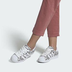 Adidas Superstar Cheetah Print White Womens Trainers Size UK 5.5 EU 38.5 Rare