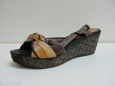 Wedge 100% Leather Multi-Coloured Heels for Women