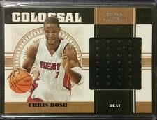 2010-11 National Treasures CHRIS BOSH Colossal Game Used Jersey Relic /25