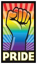 Fridge Magnet: PRIDE - LGBT (Lesbian, Gay, Bi-Sexual, Transgender) RAINBOW FIST