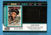 "JOHN WAYNE WORN SWATCH RELIC CARD AMERICANA ""ADVENTURES END"" MOVIE POSTERS #d499"