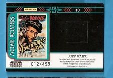 "JOHN WAYNE WORN SWATCH RELIC CARD AMERICANA ""ADVENTURES END"" MOVIE POSTERS #d499"