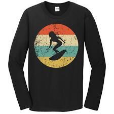 Surfing Shirt - Vintage Retro Surfer Long Sleeve T-Shirt