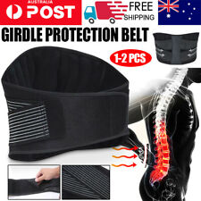 Adjustable Lumbar Lower Back Support Pain Relief Belt Brace Strap Posture Waist