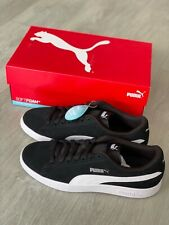 PUMA Smash V2 Leather Suede Men's Trainers Shoes Sneakers Sports Black Uk NEW!