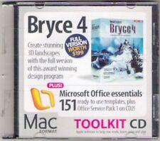 De Colección de CD-ROM 2004 CD macformat Bryce 4 Microsoft Kit de herramientas de oficina Coleccionable