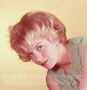 JEAN SEBERG 1960s YOUNG BEAUTIFUL 2 1/4 CAMERA TRANSPARENCY PETER BASCH