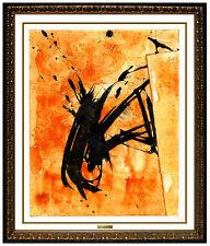 JAMALI Original Abstract Painting Pigmentation on Cork Signed Figurative Artwork