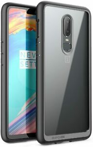 For OnePlus 6, SUPCASE UBStyle Transparent Backing Case Defensive Bumper Cover