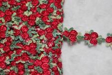 "$1 yard White Metallic Gold Rosebud Braid GIMP Sewing Costume Trim 7/8"" wide W39"