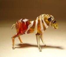 Blown Glass Figurine Small Art Animal ZEBRA
