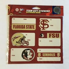 Florida State Seminoles Christmas Present Name Labels Team Gift Stickers To/From