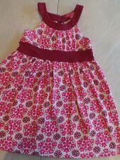 girls LYDIA JANE SUMMER SUN DRESS burgundy floral print COTTON soft cute SIZE 3T