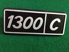FIAT 1300 C PLASTIC BADGE SCRITTA EMBLEM NOS