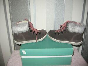 Carks Girls Ankle Boots Dana Cherub Grey Suede UK Size10.5 G EU 28.5 G