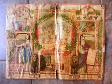 jewish judaica antique Shiviti color mizrach germany ?