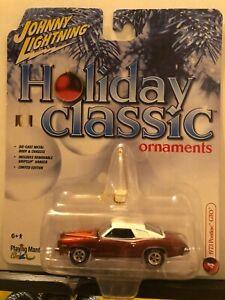 1/64 JOHNNY LIGHTNING HOLIDAY CLASSICS ORNAMENTS 1973 PONTIAC GTO BRONZE WHITE